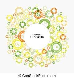 círculos, abstratos, luminoso, vetorial, fundo, tecnologia