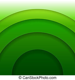círculos, abstratos, papel, vetorial, experiência verde