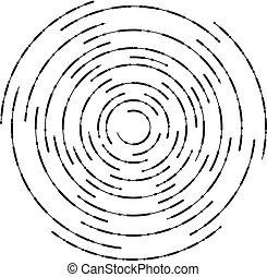 círculos, abstratos, vetorial, fundo, ondulação, concêntrico