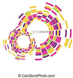 círculos, abstratos, vetorial, tecnologia, fundo