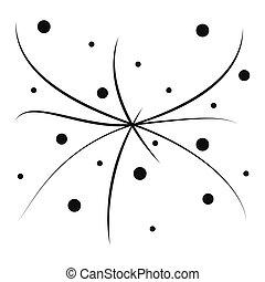 círculos, arte, padrão, abstratos, seamless, vetorial, experiência preta, linha