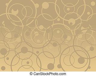 círculos, bronzeado