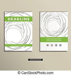 círculos, coloreado, cubierta, resumen, líneas, libro