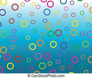 círculos, colorido