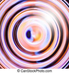 círculos, concéntrico, colorido