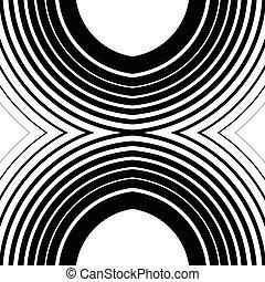 círculos concéntricos, anillos, resumen, vector., lata, ser, utilizado, como, un, seamless, pattern.