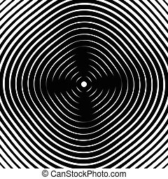 círculos concéntricos, círculos, circular, geométrico, pattern., resumen, monocromo, textura, /, patrón