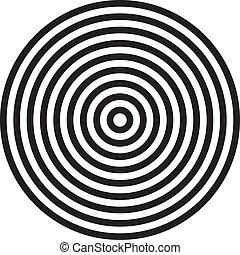 círculos, concêntrico, fundo