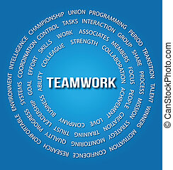 círculos, conceito, trabalho equipe