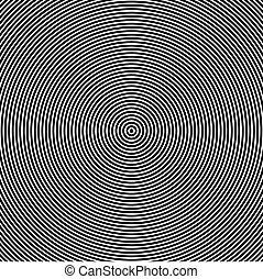 círculos, efeito, ilustração, vetorial, óptico, fazer, concêntrico, movimento
