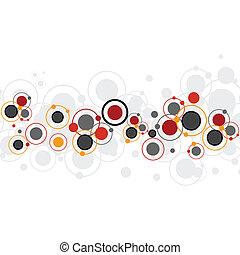 círculos, experiência colorida