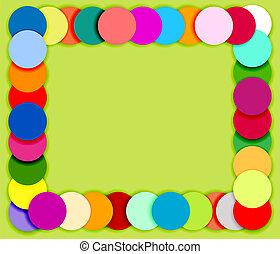 círculos, feito, cor, padrão, quadro, seamless