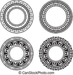 círculos, florido