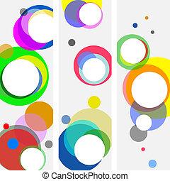 círculos, fundo