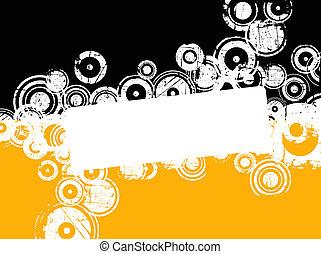 círculos, grunge, copyspace
