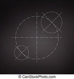 círculos, hecho, resumen, papel pintado, vector, ingeniería,...