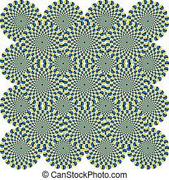 círculos, ilusión óptica