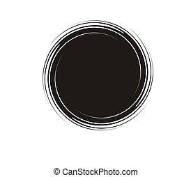círculos, insignia, Ilustración, vector, etiqueta,...