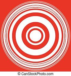 círculos, Irradiar, patrón, Extracto, patrón, /, círculos,...