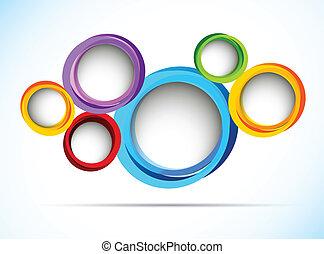 círculos, luminoso, fundo
