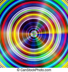 círculos, luz, flares., multicolor