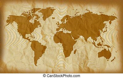 círculos, mapa mundial