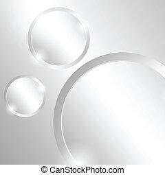 círculos, metal, plano de fondo