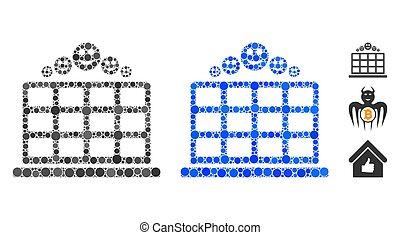 círculos, mosaico, clasificación, icono, hotel, sonrisa
