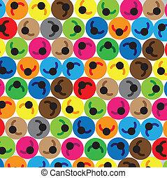 círculos, ou, conceito, estudantes, coloridos, ícones, grupo, empregados, pessoas, ilustração, logo, cada, etc, outro, homens, comunidade, mão-de-obra, contém, representando, crianças, colocado