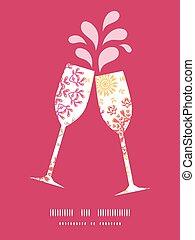 círculos, padrão, abstratos, silhuetas, vetorial, vinho,...