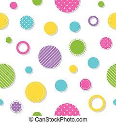 círculos, padrão, coloridos