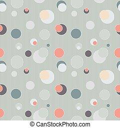 círculos, padrão, linhas, seamless