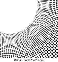 círculos, padrão, space., modelo, curvado, cópia
