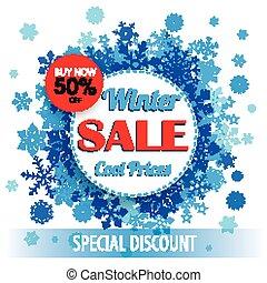 círculos, papel, inverno, aba, venda