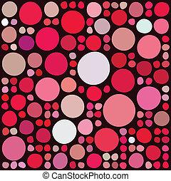 círculos, patrón, aleatorio
