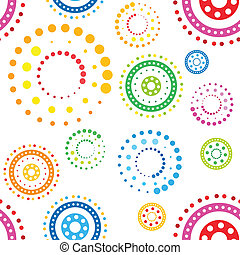 círculos, patrón, seamless