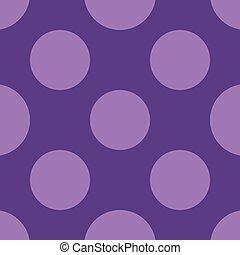 círculos, pontilhado, polca, pattern., seamless, ilustração, vetorial, fundo, ponto