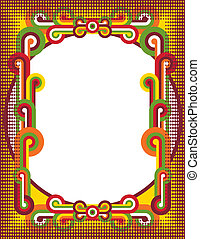 círculos, popart, quadro