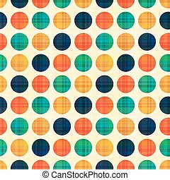 círculos, puntos, polca, seamless, patrón