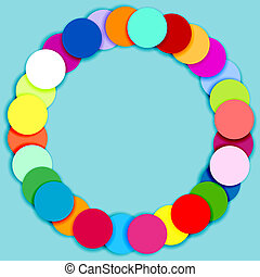 círculos, quadro, feito, multicolor, redondo