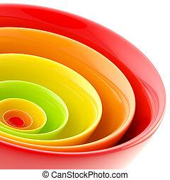 círculos, resumen, hecho, plano de fondo, plástico