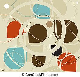 círculos, seamless, patrón