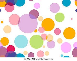 círculos, seamless, transparente