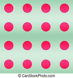 círculos, verde, redondo, fondos, rosa