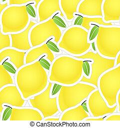 cítrico, amarela, seamless, fundo