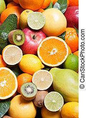 cítrico, e, outro, fruta