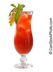 cítrico, fruta tropical, coquetel