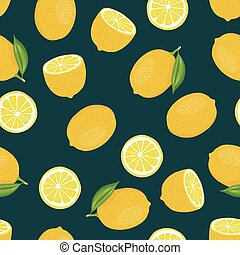 cítrico, vetorial, limão, seamless, fundo