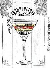 cóctel, cosmopolita