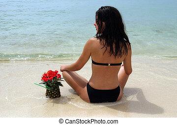 cóctel, en la playa